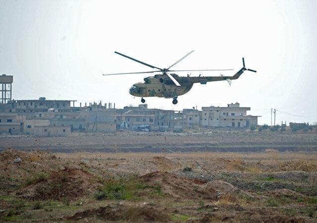 hélicoptère Mi-8 en Syrie