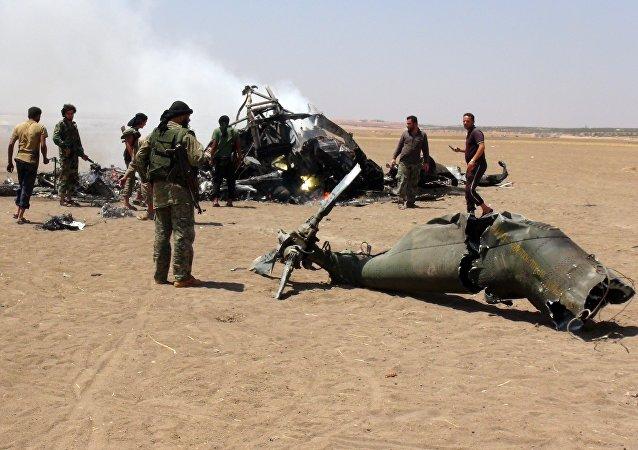 Le Mi-8 russe abattu au-dessus d'une région contrôlée par le Front al-Nosra