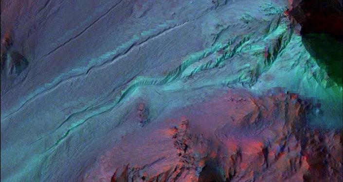 traces d'écoulement d'eau sur Mars
