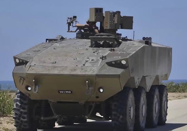 Le nouveau véhicule blindé israélien l'Eitan