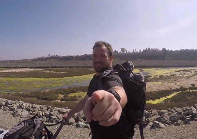 L'Américain Ben Davis a traversé les USA d'un océan à l'autre à pied
