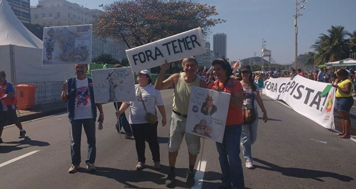 Manifestations contre les JO et le président brésilien par intérim Michel Temer