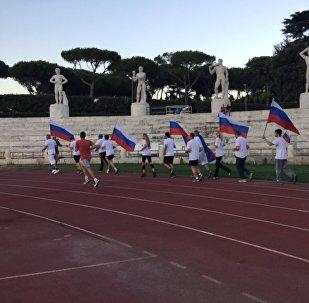 Course de solidarité avec les athlètes russes