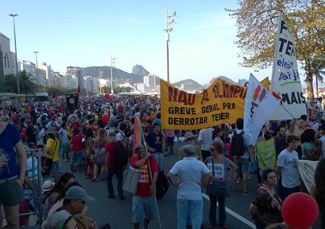 Protestations à Rio de Janeiro