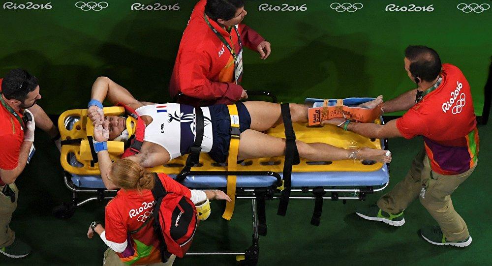 l'horrible blessure du gymnaste français Samir Aït Saïd