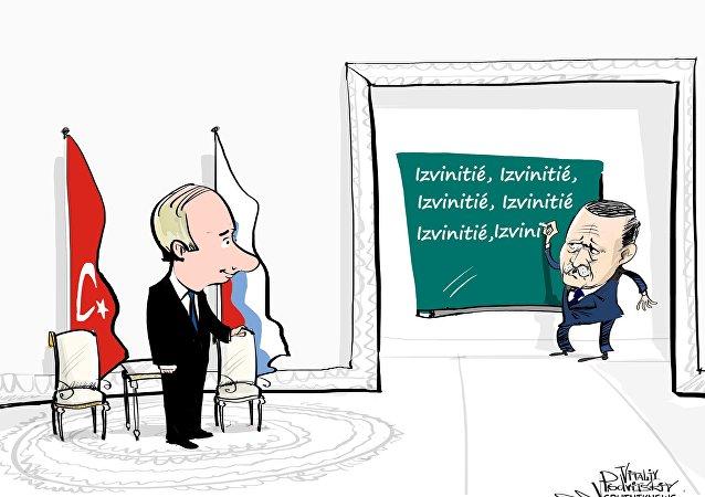 Izvinitié: comment Erdogan a présenté ses excuses à Poutine en russe
