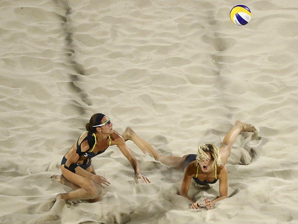 Les sportives allemandes lors du match face à l'équipe de l'Egypte