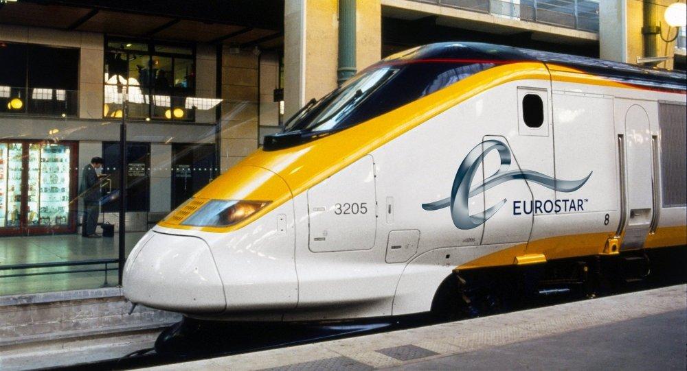 Un Eurostar à la Gare du Nord à Paris
