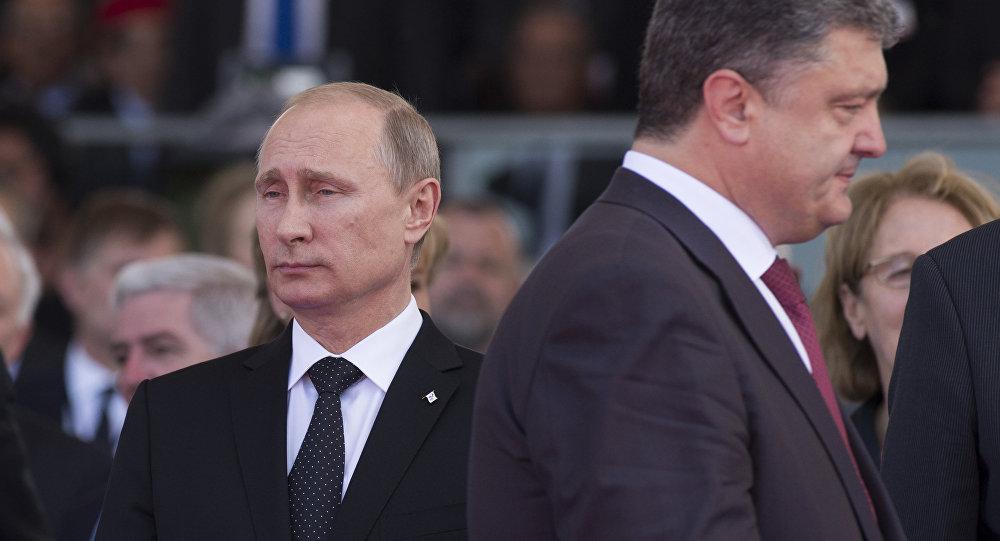 Vladimir Poutine et Piotr Porochenko