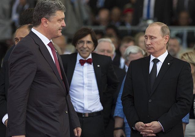 Piotr Porochenko et Vladimir Poutine
