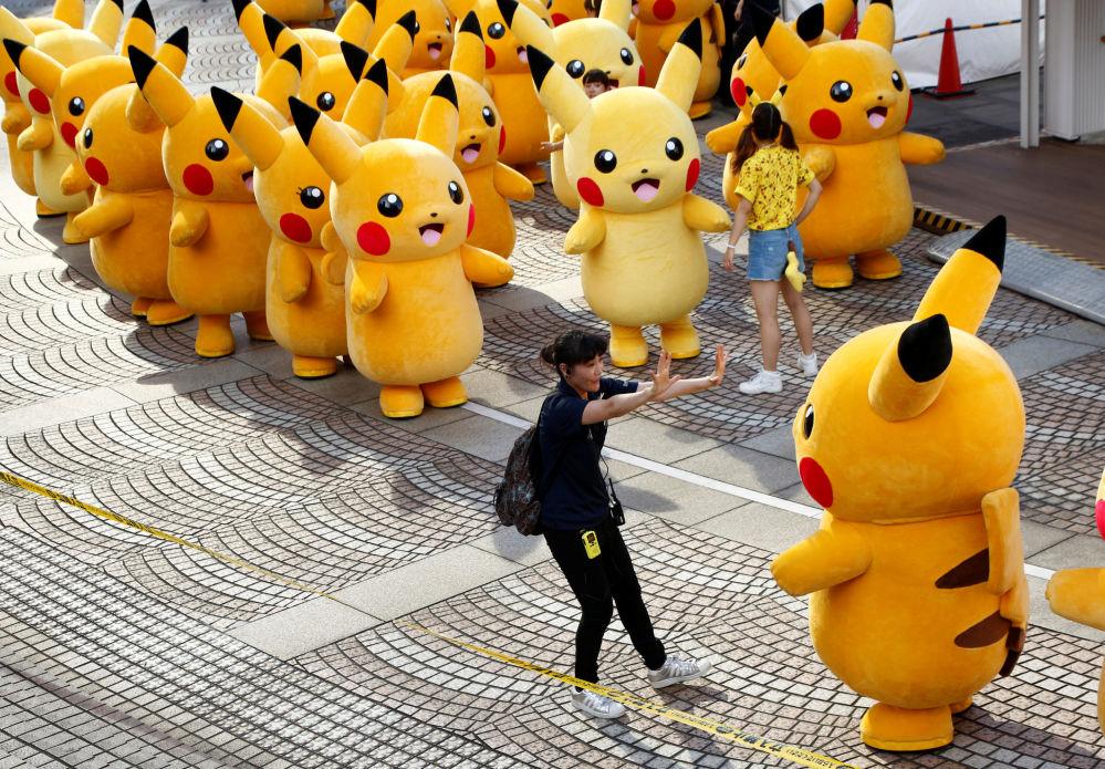 Cette parade de Pikachu se déroule dans la ville japonaise d'Yokohama du 7 au 14 août