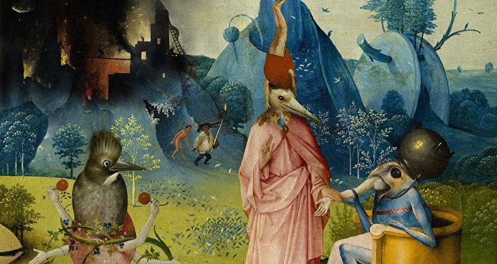 Le Jardin des délices de Jérôme Bosch (collage)