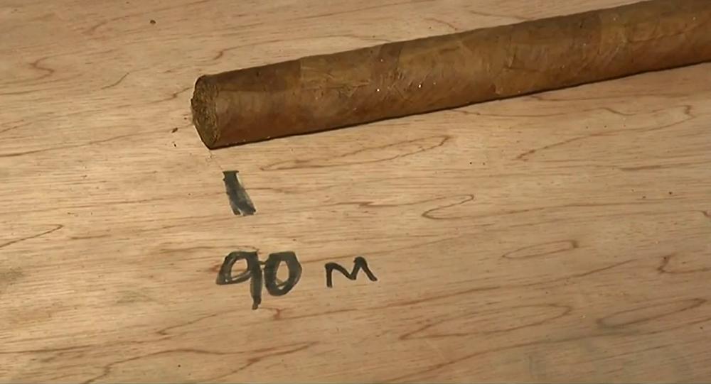 Un cigare de 90 mètres à l'occasion des 90 ans de Fidel Castro