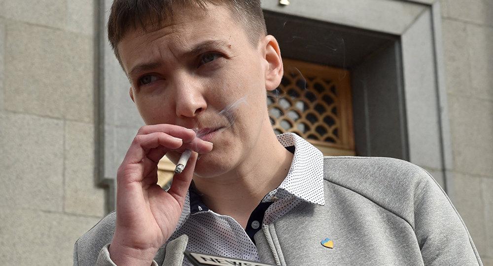 La députée de la Rada suprême (parlement) de l'Ukraine, Nadejda Savtchenko
