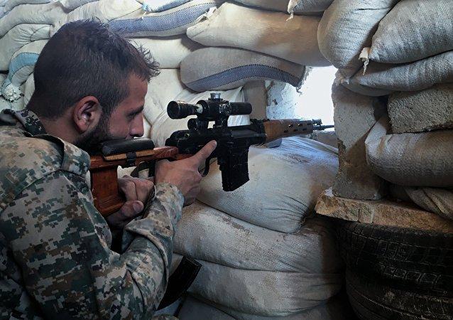 Un soldat syrien