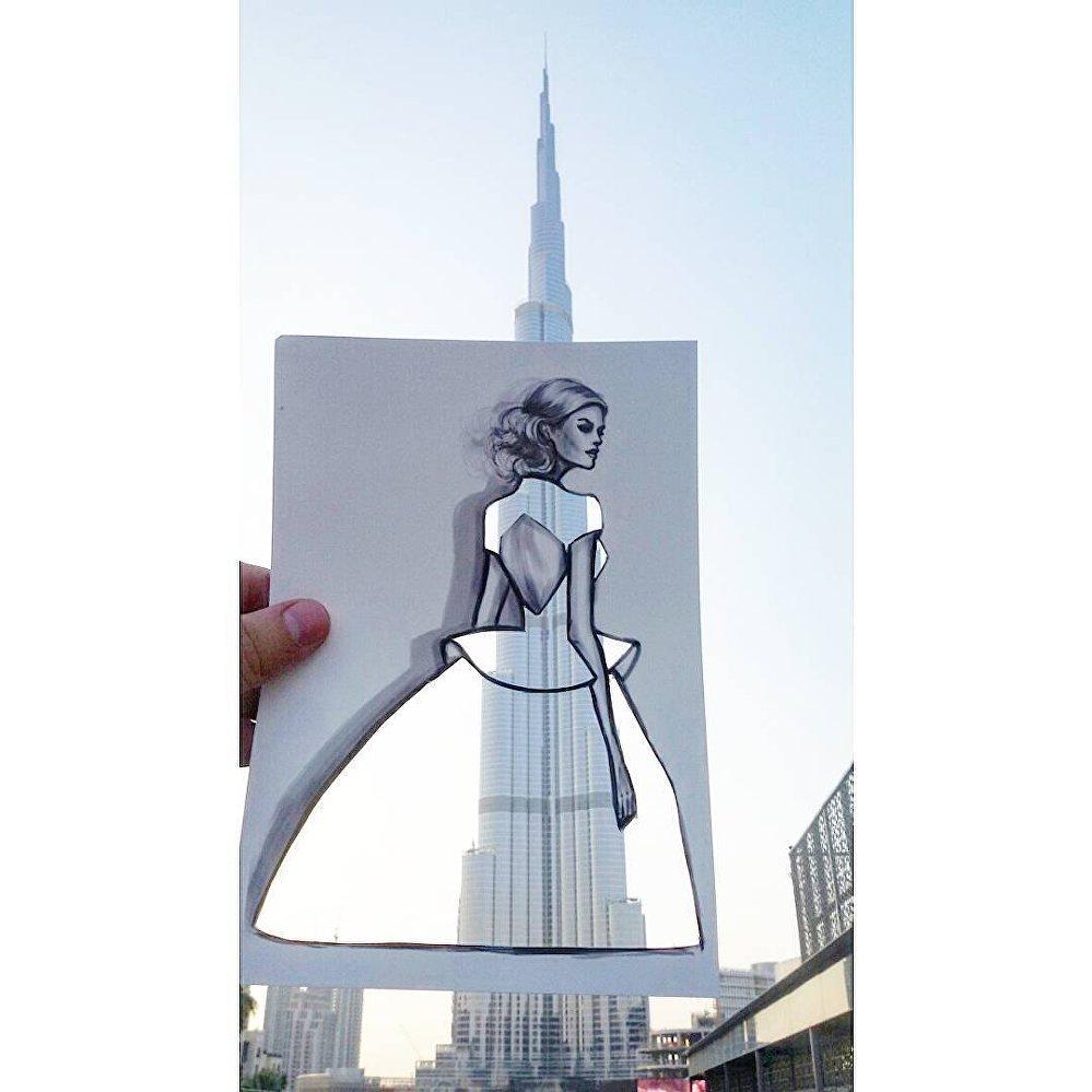 Fantastic Cutouts Where Fashion Meets Landscape