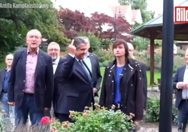 Le doigt d'honneur du vice-chancelier allemand à des militants d'extrême droite
