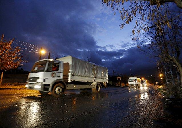 Un convoi humanitaire en Syrie