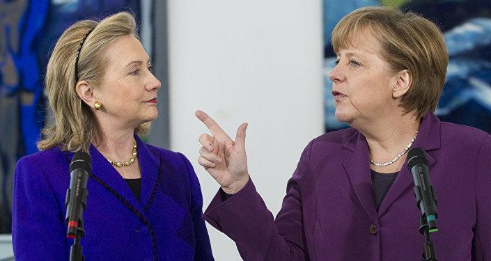 Clinton et Merkel