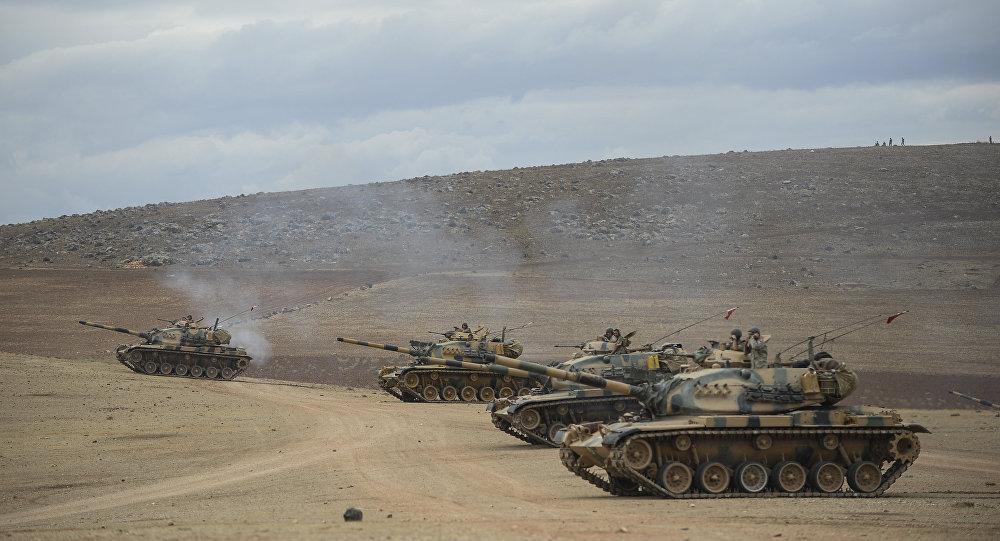 L'attaque des chars turcs