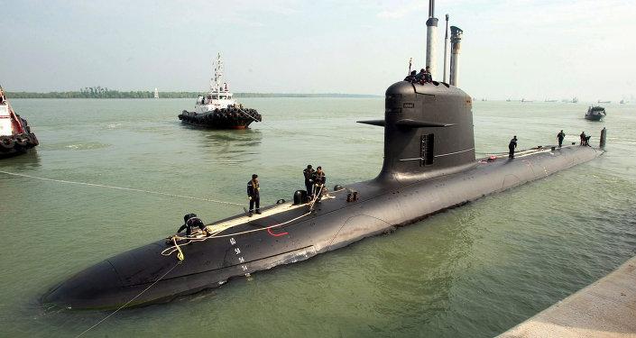 Un sous-marin Scorpène conçu par le DCNS