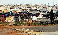 Le camp de déplacés à Bangui, en Centrafrique
