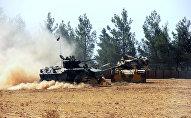 Un char turc près de la frontière syrienne