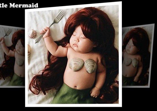 Les 1001 métamorphoses d'un bébé qui dort enflamment la Toile