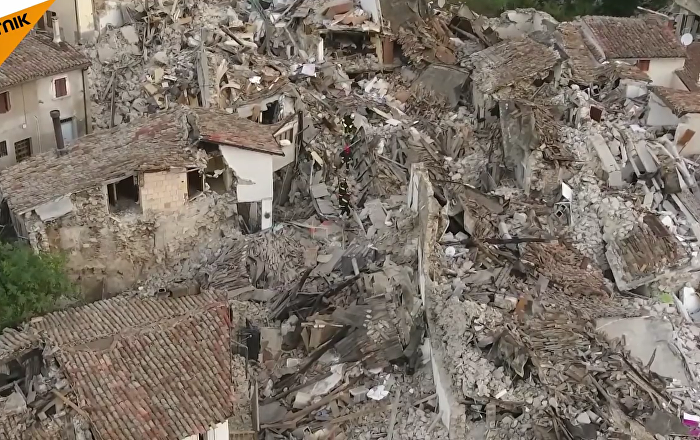 Les conséquences du séisme à Pescara del Tronto