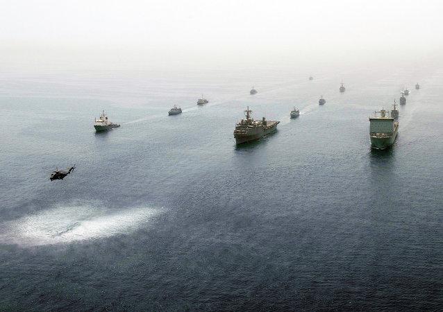 Navires américains dans le Golfe