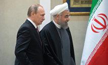 Vladimir Poutine et Hassan Rouhani