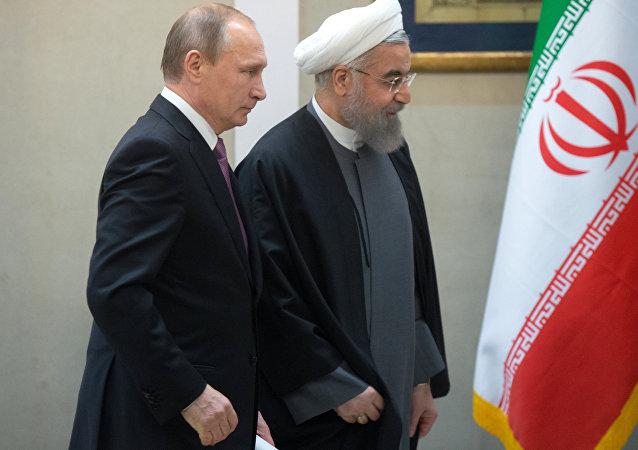 Le président russe Vladimir Poutine et le président iranien Hassan Rouhani