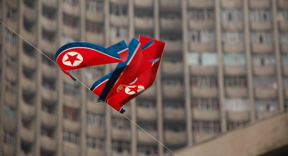 Drapeau nord-coréen