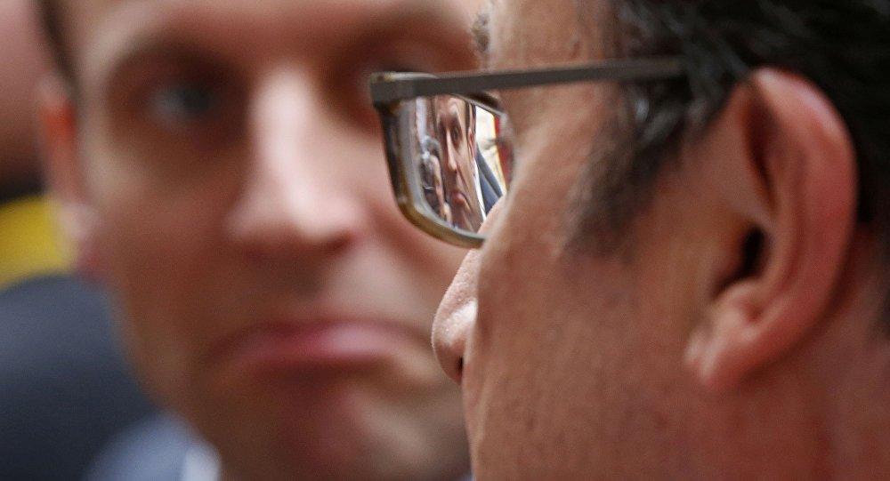 Francois Hollande et Emmanuel Macron