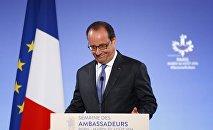 Francois Hollande à l'ouverture de la 22e Conférence des ambassadeurs