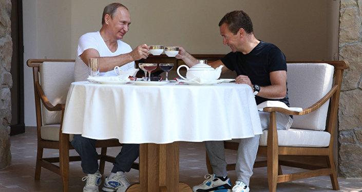 Vladimir Poutine et Dmitri Medvedev