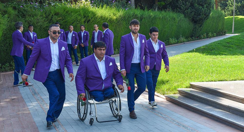 La rencontre avec les paralympiens azerbaïdjanais