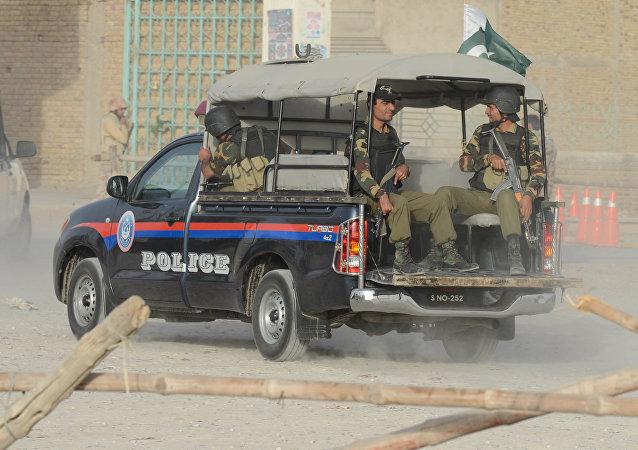 La police pakistanaise
