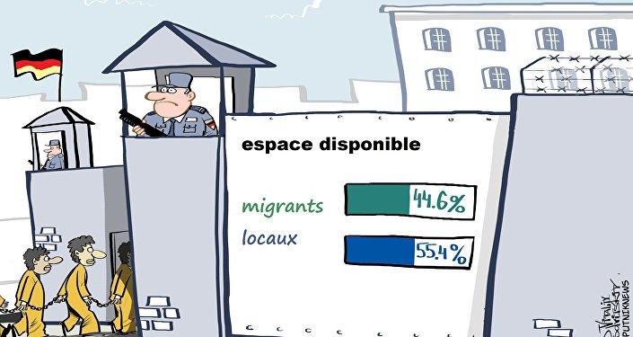 Les prisons allemandes surpeuplées à cause des réfugiés