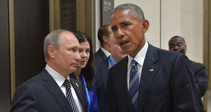 Le président russe Vladimir Poutine et le président américain Barack Obama lors d'une réunion à Hangzhou