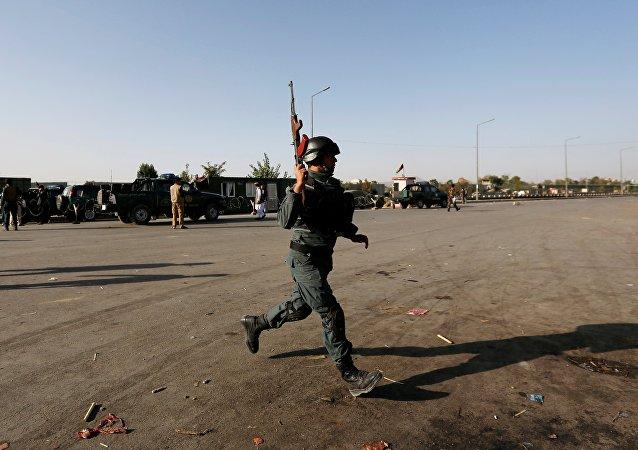 Agent de police afghan, Sept. 5, 2016.