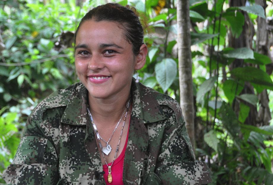 Christine fait partie du groupe des FARC depuis plus de 7 ans et a participé à plusieurs combats