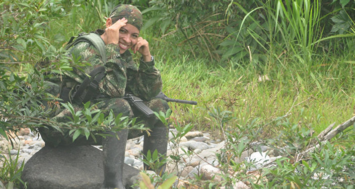 Olga, partisane des FARC