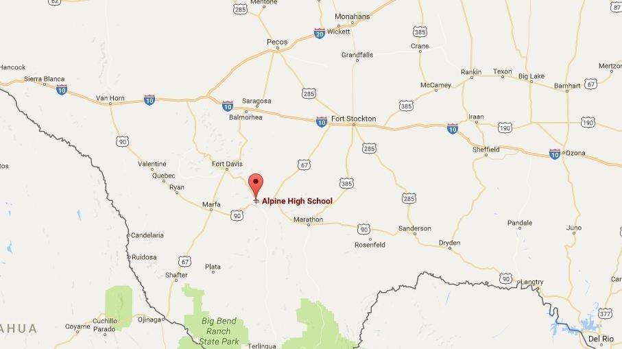 Lycée dans la ville d'Alpine dans l'ouest du Texas, aux Etats-Unis