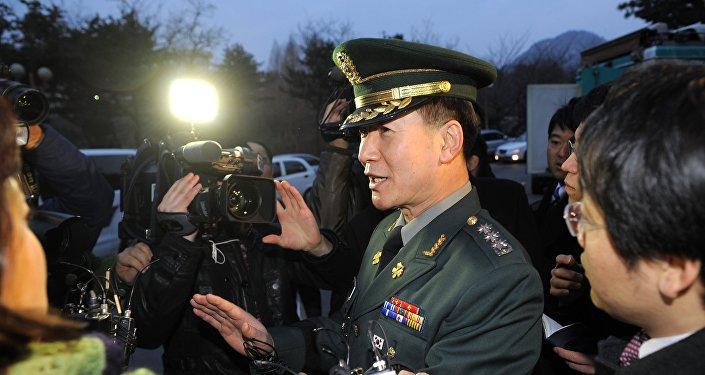 Le porte-parole du ministère sud-coréen de la Défense Moon Sang-gyun. Archive photo