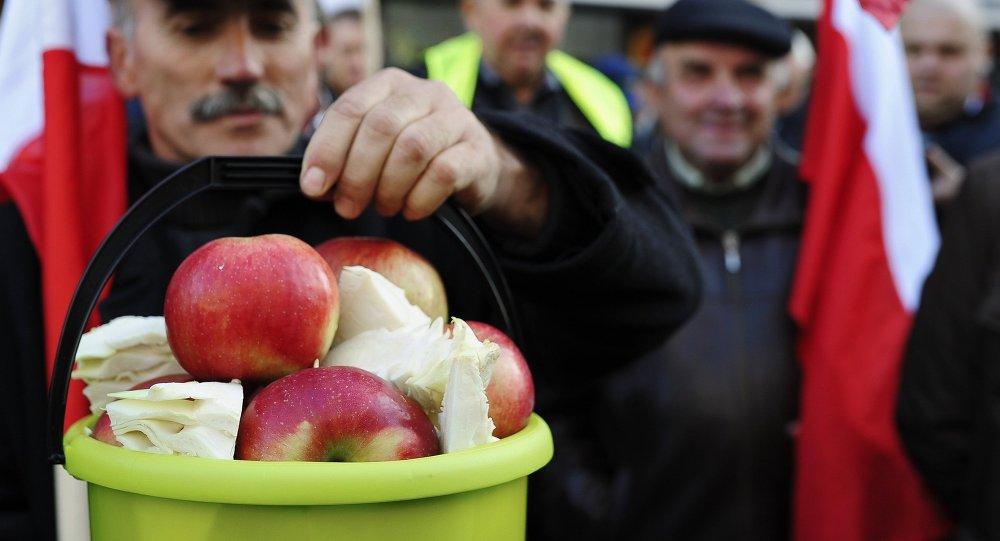 Protestation des fermiers en Pologne. Photo d'archives