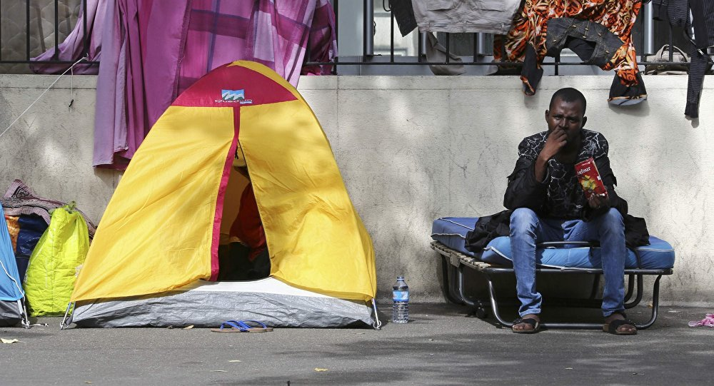 camp de migrants à Paris