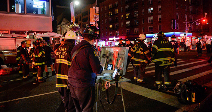 Lieu de l'explosion à New York