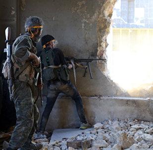 Des rebelles syriens