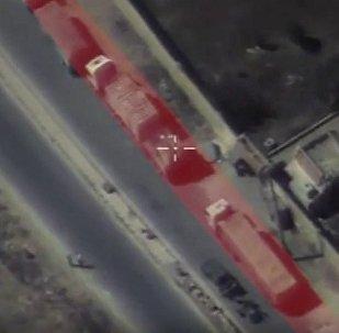 La Russie publie une vidéo du convoi humanitaire bombardé